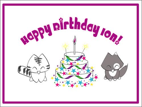 Happy Birthday Ion