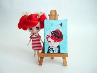 Lily with Mini Canvas